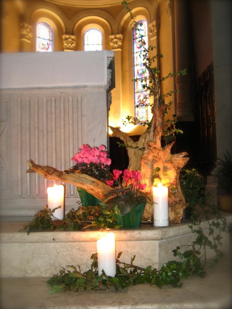 Bouquet liturgique 3e dimanche de l 39 avent paroisse - Decoration florale noel ...