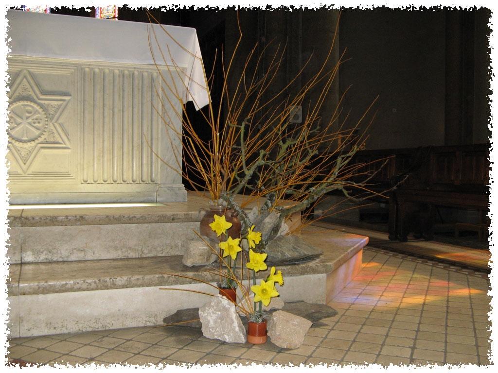 Art Floral En Liturgie Bouquet Liturgique De Careme