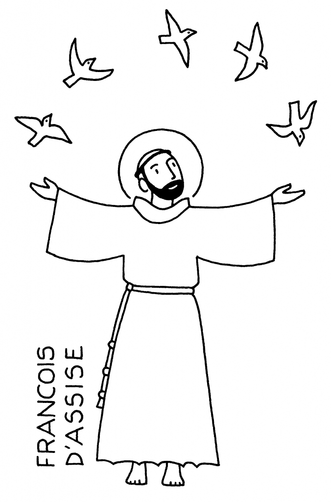 Coloriages de la toussaint vos crayons de couleur paroisse catholique de saint genis laval - Coloriage catholique ...